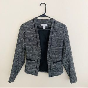 H&M black and white tweed blazer